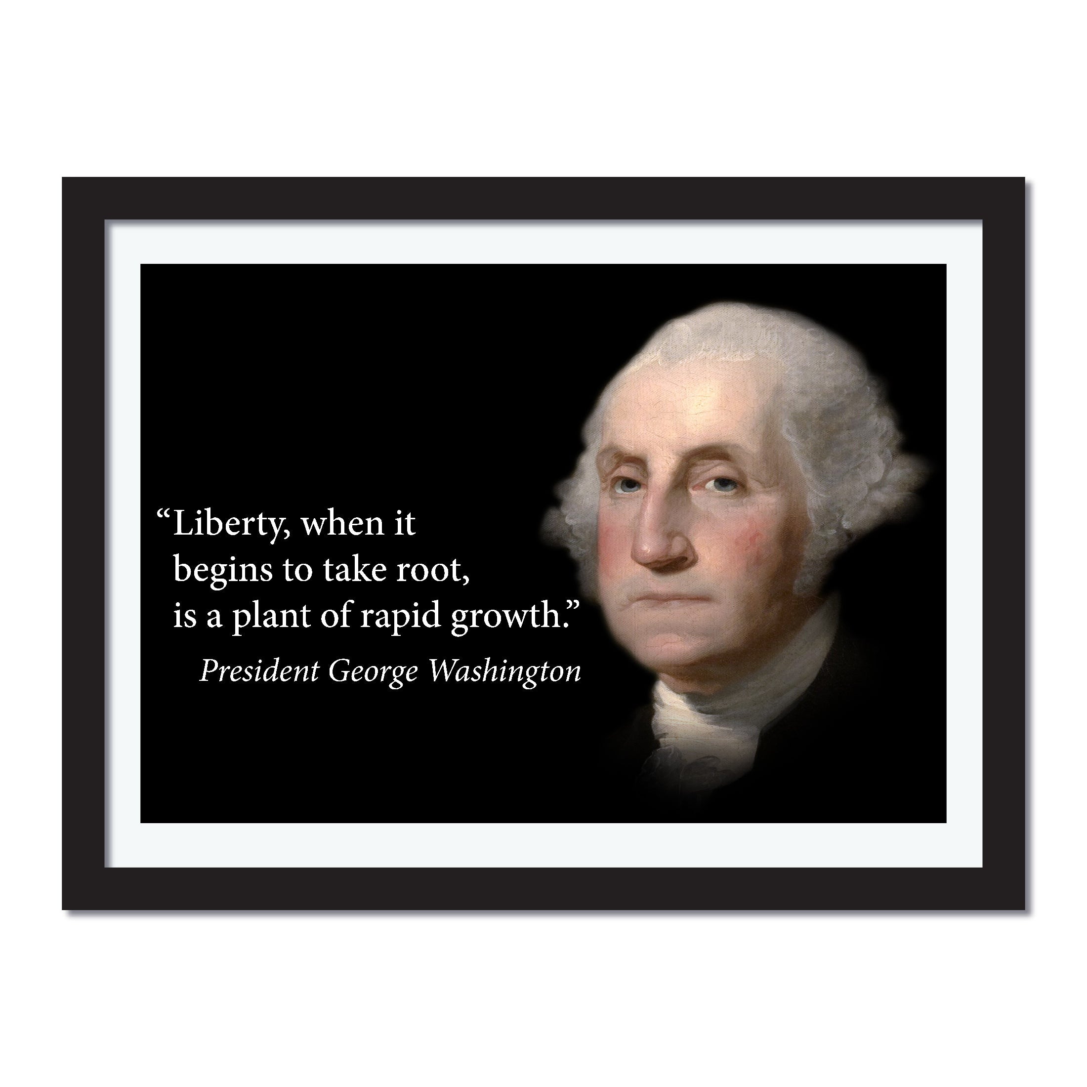 George Washington Poster Motivational Quote - Young N Refined