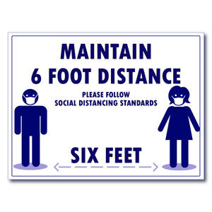 Covid-19 social distance sign