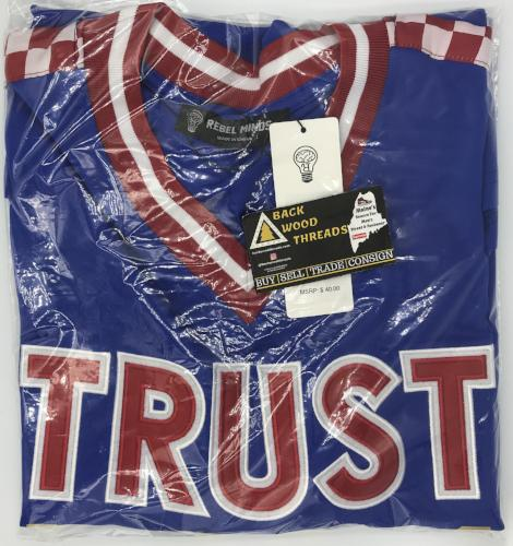 Trust No 1 Checkered Metallic V-Neck Jersey (Large)