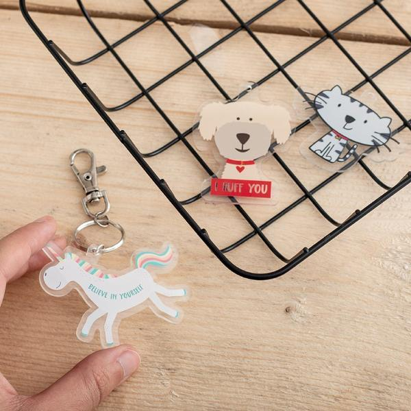 Custom Printed Clear Acrylic Charms - Funky Laser