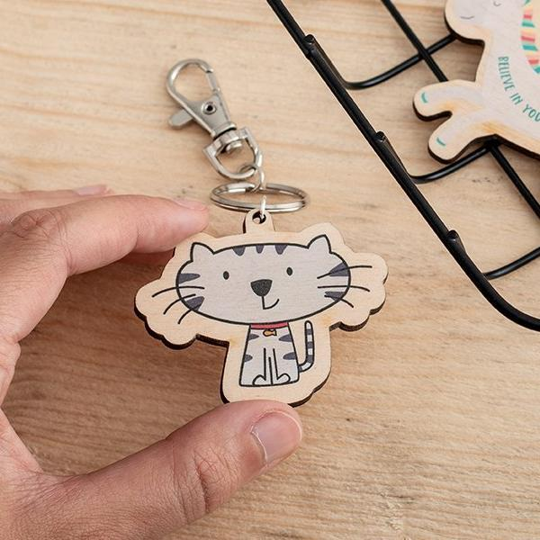 Custom Printed Wooden Charms - Funky Laser