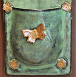 """Welcome"" Hanging Stoneware Planter by Lisa D Pottery"