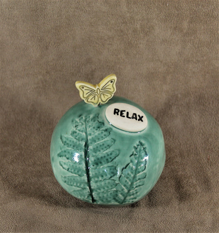 Ceramic Butterfly Spirit Rattle / Meditation Rattle