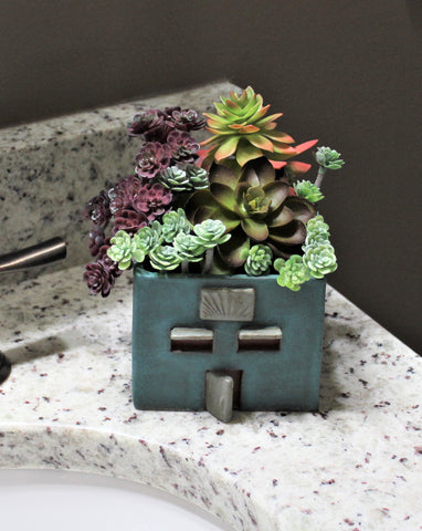 Ceramic Succulent House Planter by Lisa D Pottery