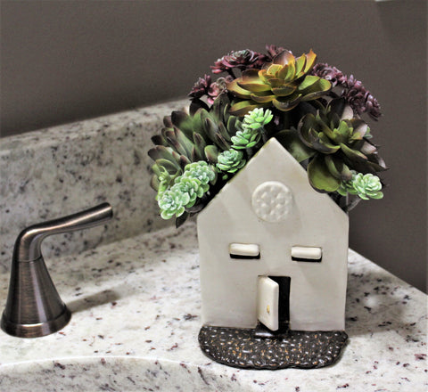 Ceramic House Planter by Lisa D Pottery