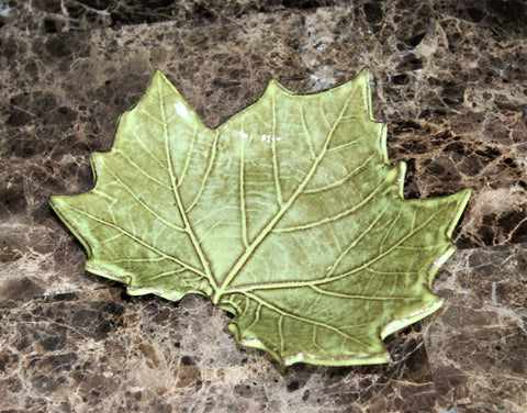 Maple Leaf Dish by Lisa D Pottery
