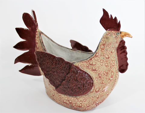 Ceramic Rooster by Lisa D Pottery