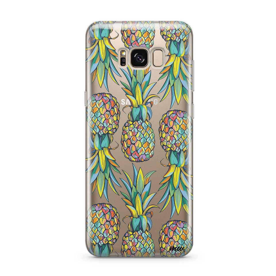 Hawaiian Pineapple - Clear Case Cover for Samsung