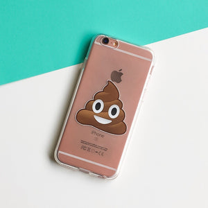 Poop Emoji - Clear Case Cover