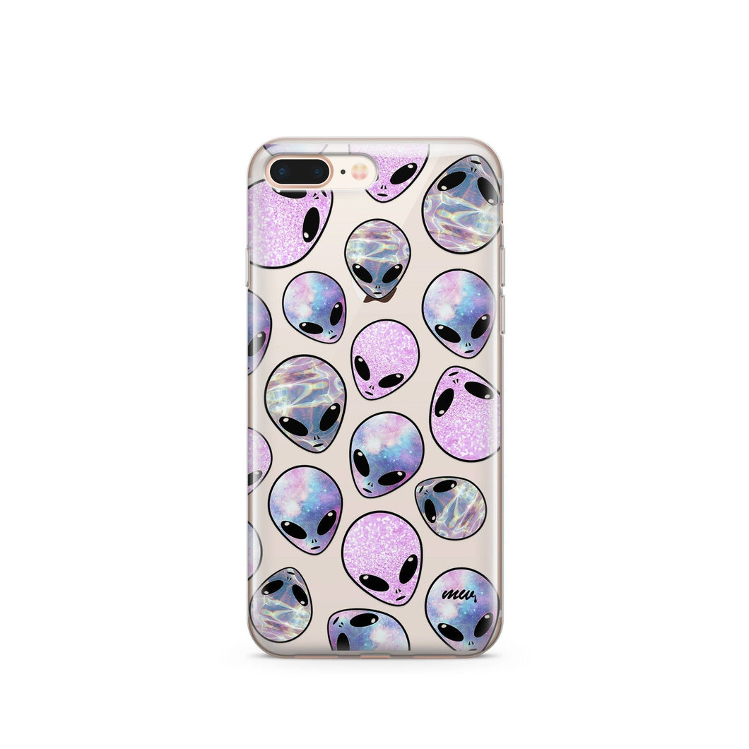 CLEARANCE iPhone 7 Clear Case Cover - Galaxy