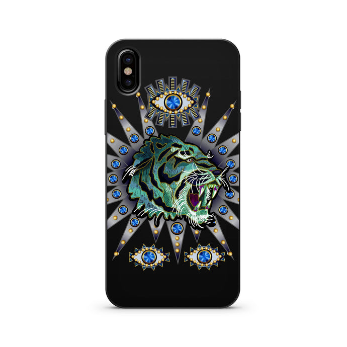 Black Wood Printed iPhone Case / Samsung Case Phone Cover - Eye of the Tiger