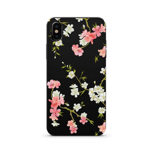 Black Wood Printed iPhone Case / Samsung Case Phone Cover - Floral Shabby Chic