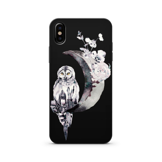 Black Wood Printed iPhone Case / Samsung Case Phone Cover - Lilith (Owl)
