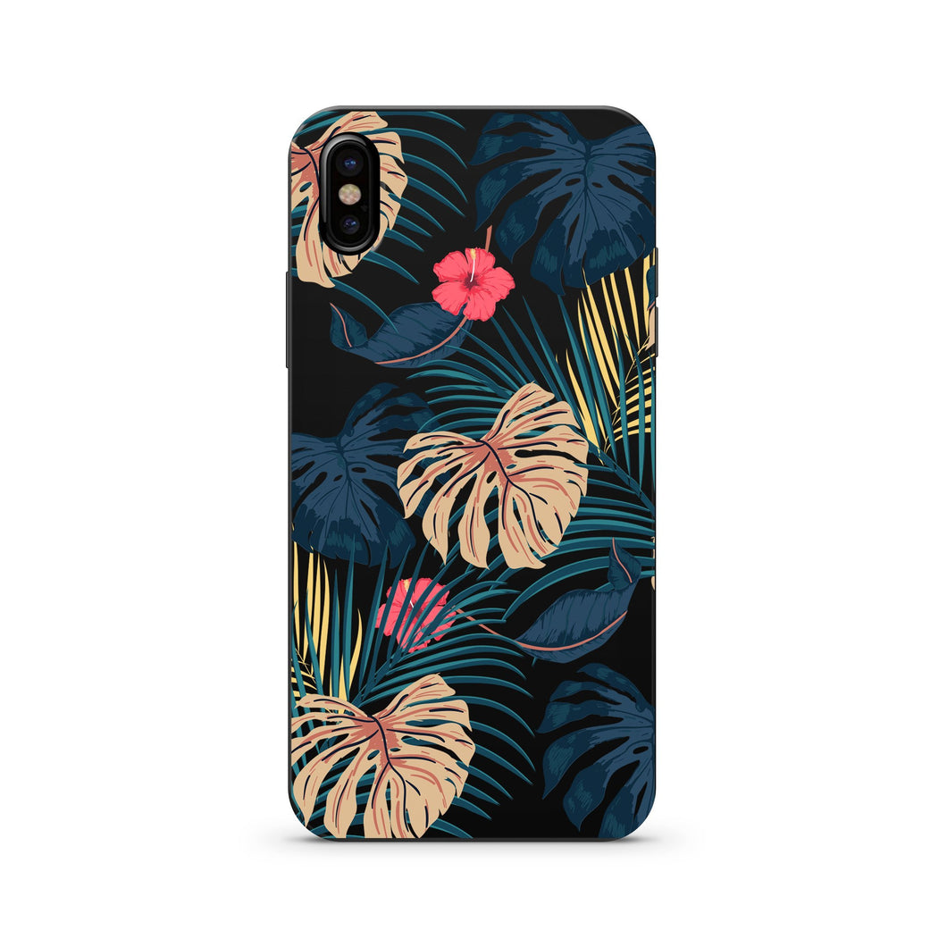 Black Wood Printed iPhone Case / Samsung Case Phone Cover - New Day Monstera