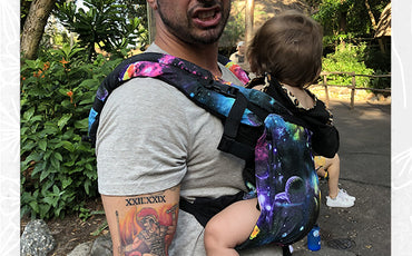 Let my husband wear our daughter while in disney