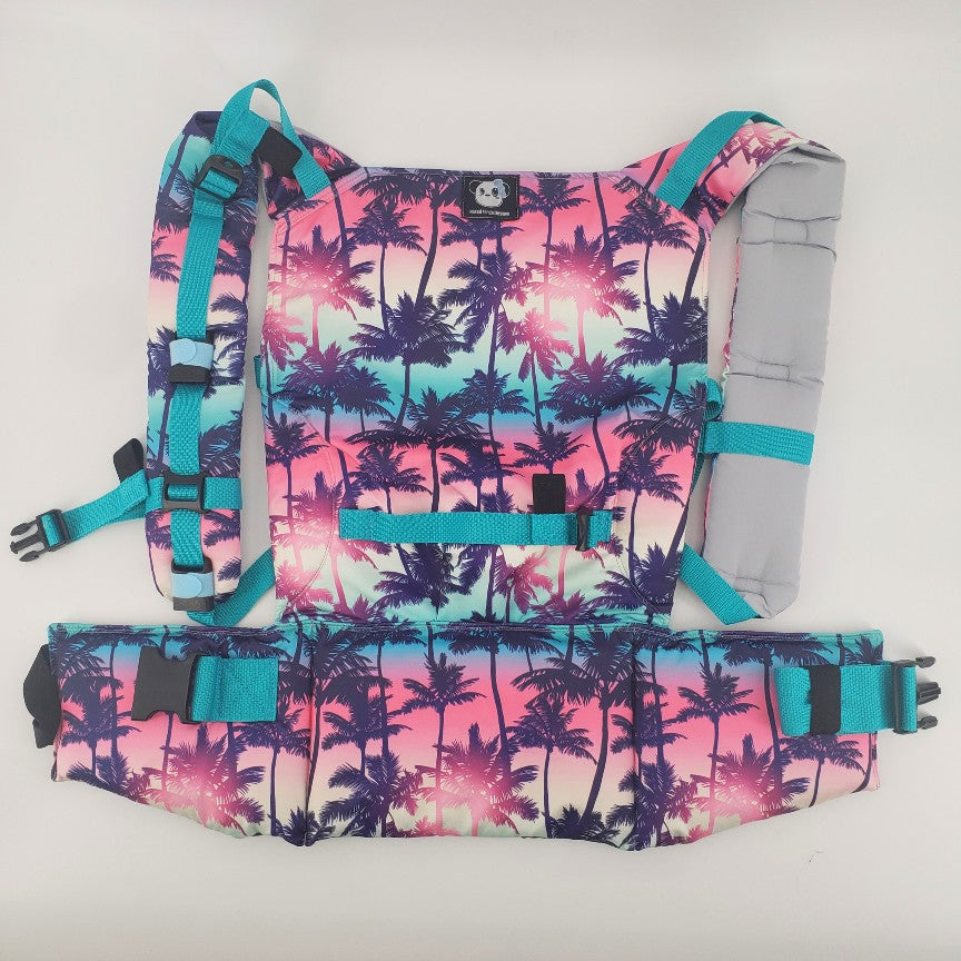 Sunset Palms Teal - Mer Full Buckle