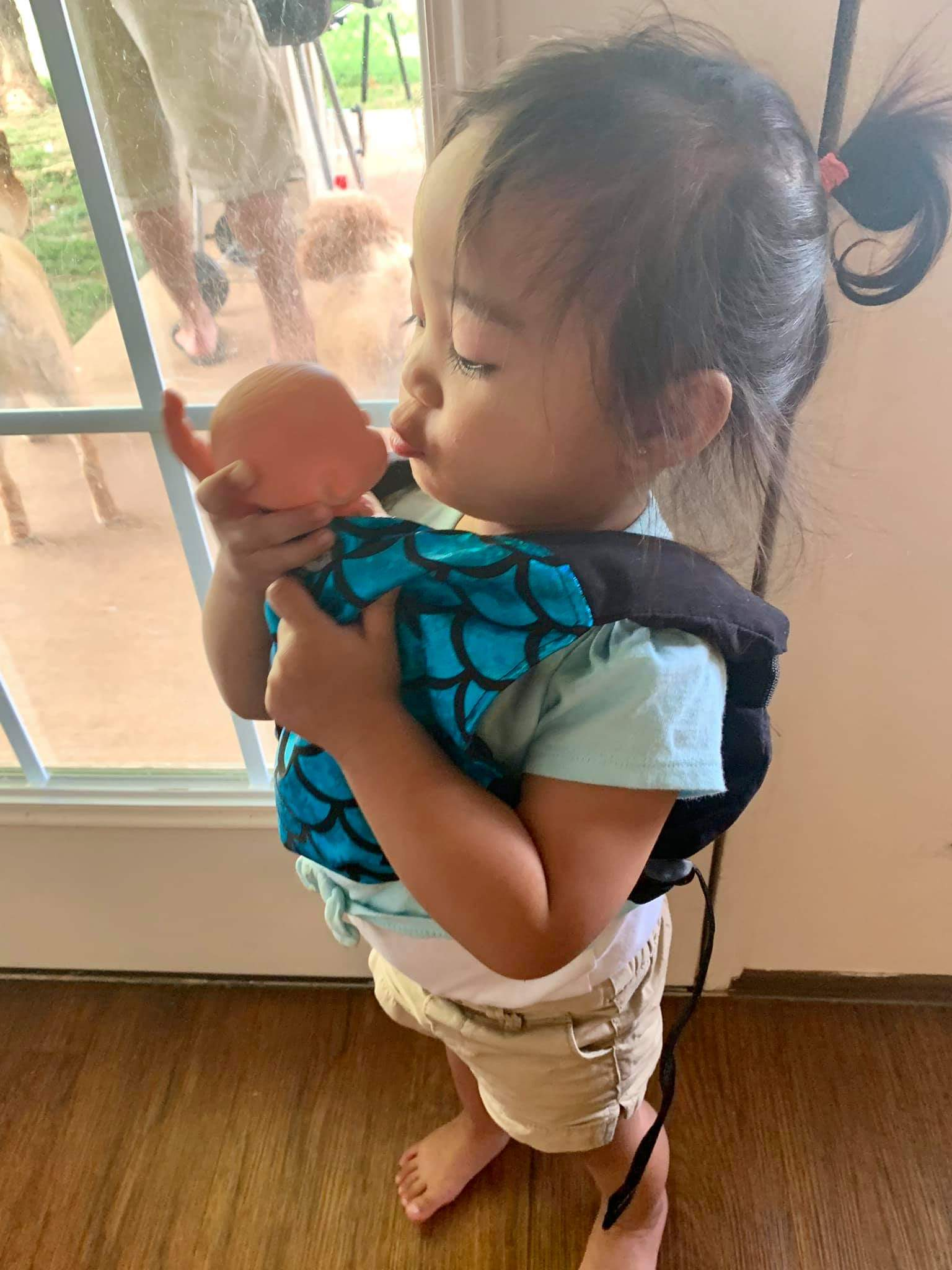 Mer Doll/Toy Carrier - Teal - Naked Panda Designs LLC