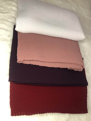 BOX 4 pleated scarves - Hijab's Store