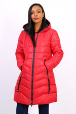 RED DOWN JACKET - Hijabs Laden