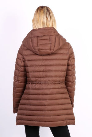 Hooded quilted jacket - hijab's store