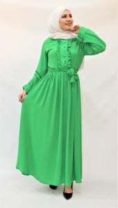 Neon Green Long Dress - Hijab's Store