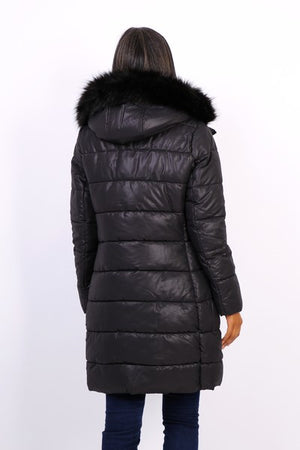 BLACK QUILTED DOWN JACKET - Hijab's Store