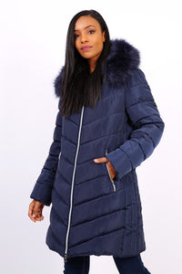 NAVY BLUE DOWN JACKET - Hijabs Laden