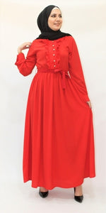 Robe Longue Rouge - Hijab's Store