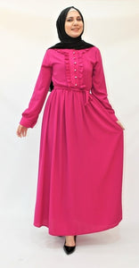 Langes Fuchsia-Kleid - Hijab's Store