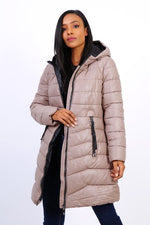 BEIGE DOWN JACKET - Hijabs Laden