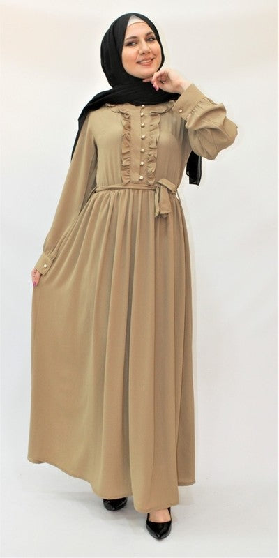 Robe Longue Beige - Hijab's Store