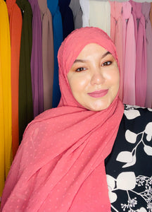 LUXURY PINK-BLUSH MUSLIN HIJAB