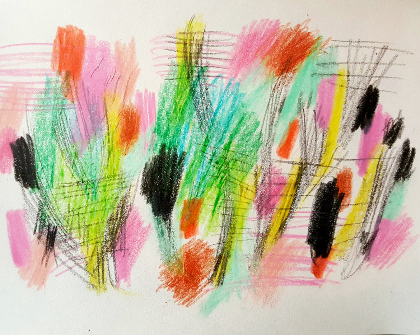 crayon doodles in sketchbook by Julia Laing