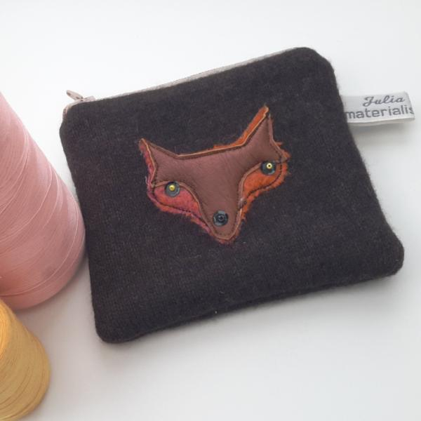 Coin Purse - Fox - Brown Cashmere