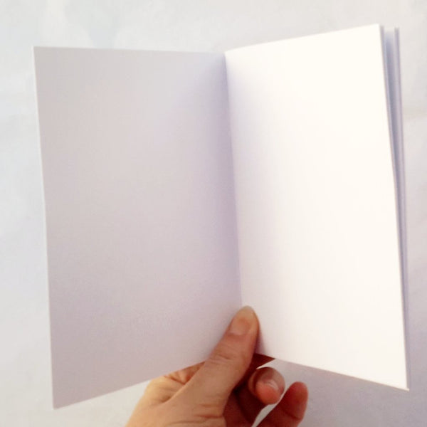 blank pages inside notebook