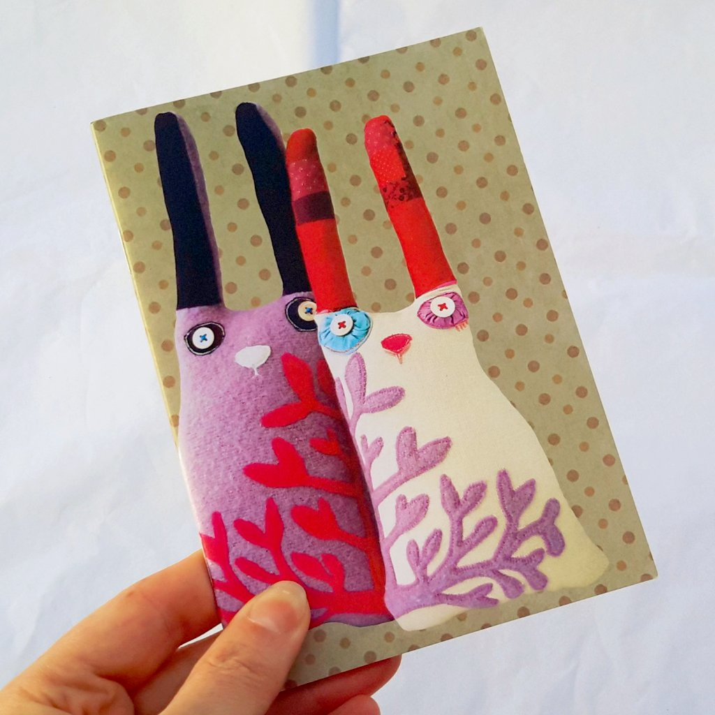 Small Notebook - Cloth Rabbits Design