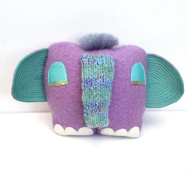 Small lilac elephant doll