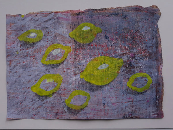 lemons painting on paper