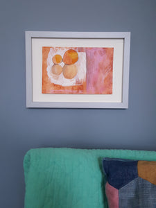 Oranges - Original Mixed-Media Artwork