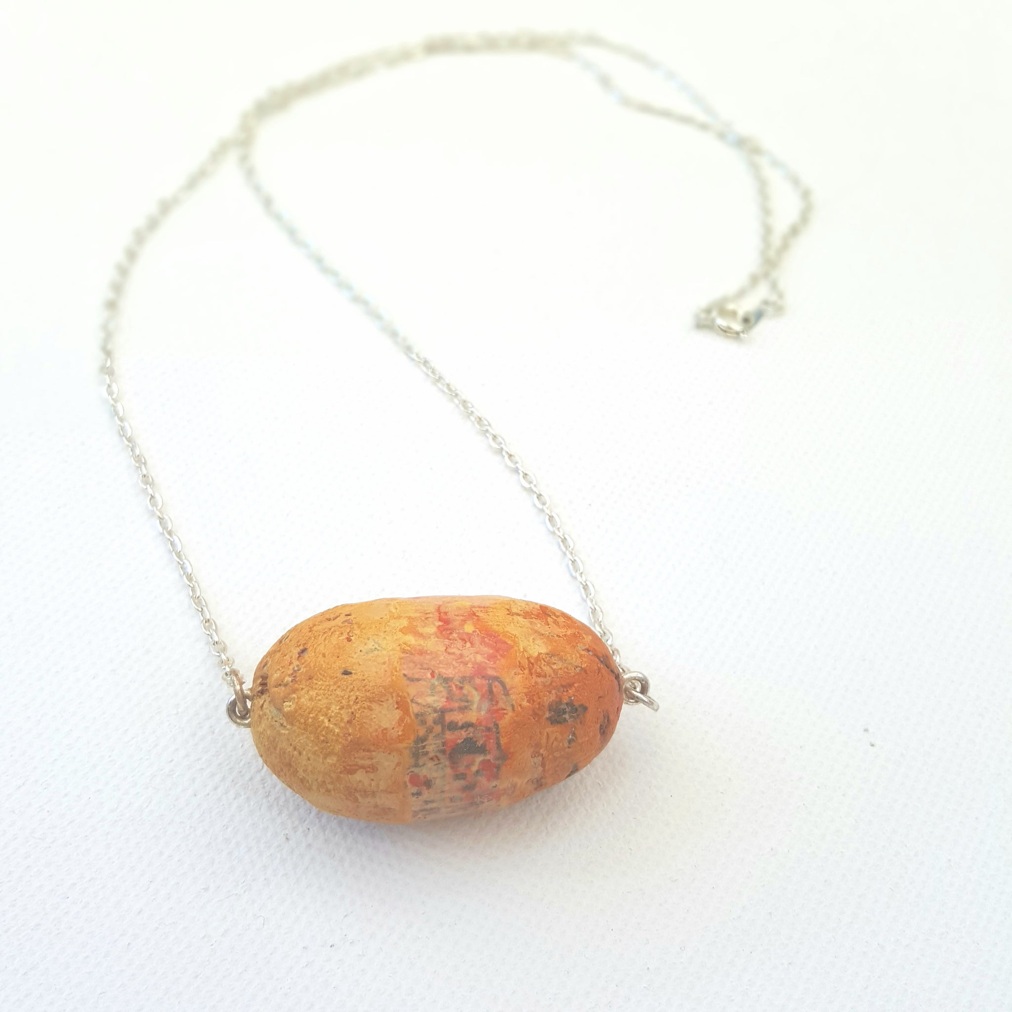 Stay Afloat Necklace - Yellow Ochre Cork Amulet