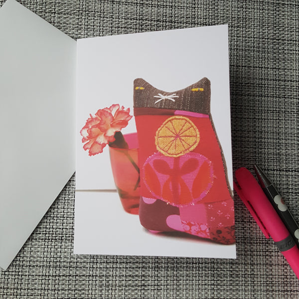 Cloth Cat Greeting Card