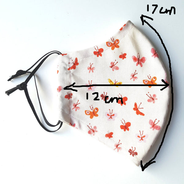 Cotton face covering measurements