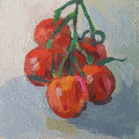 Mini painting of cherry tomatoes