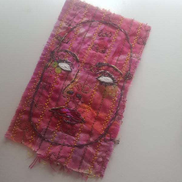 Textile Artwork - Who is Behind the Mask?