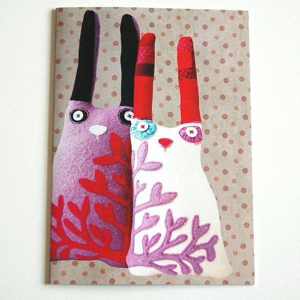 Greetings Card - Cloth Rabbits