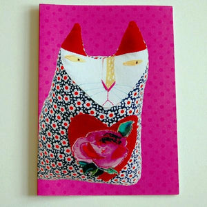 Greetings Card - Cloth Cat