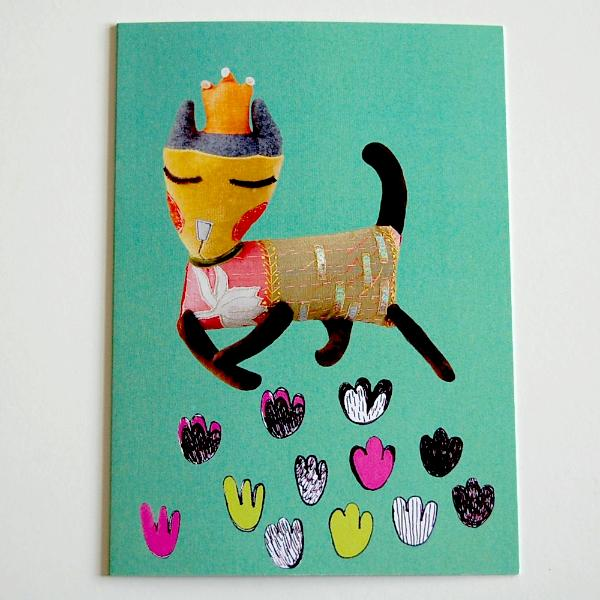 Greetings Card - Sleepy Princess Cat