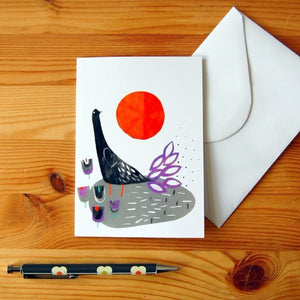 Greetings Card - Bird In The Sun