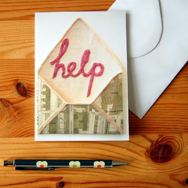Greetings Card - Help