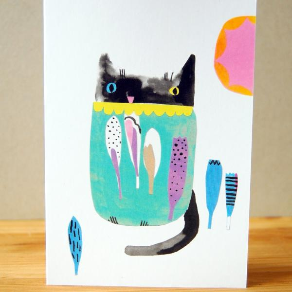 Greetings Card - Cat In The Sun